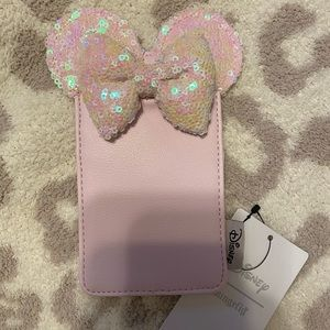 Disney Loungefly Minnie Mouse pink card case